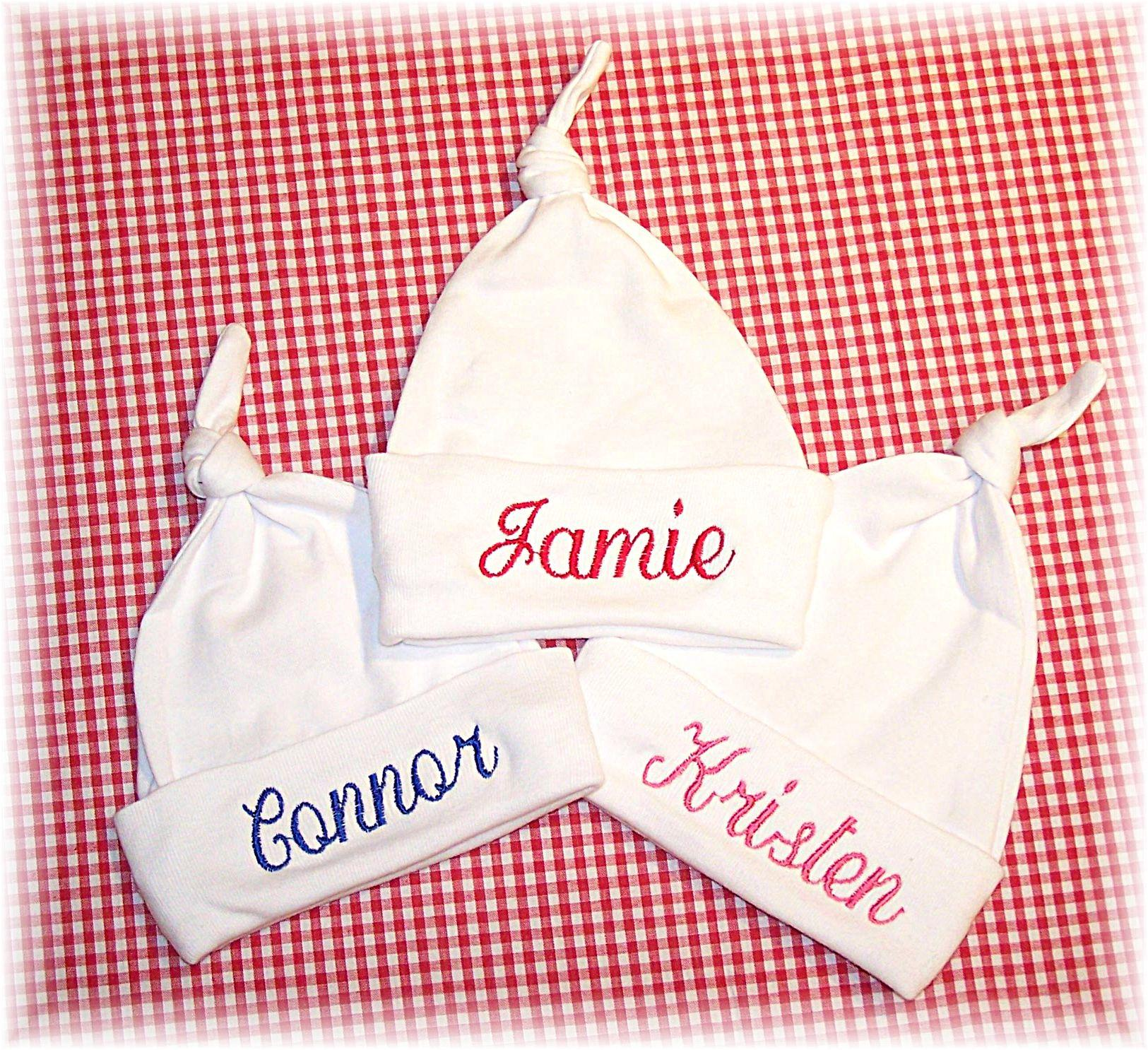 Personalised New Baby Gifts Australia : Personalized baby hats