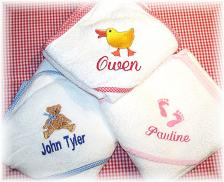 Personalized Baby Bath Sets