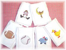 Custom Embroidered Burp Cloths
