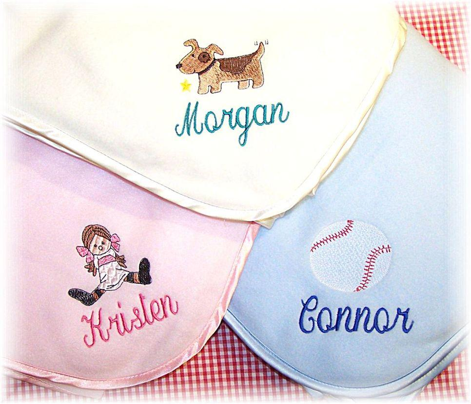 Personalized Fleece Baby Blanket With A Single Name