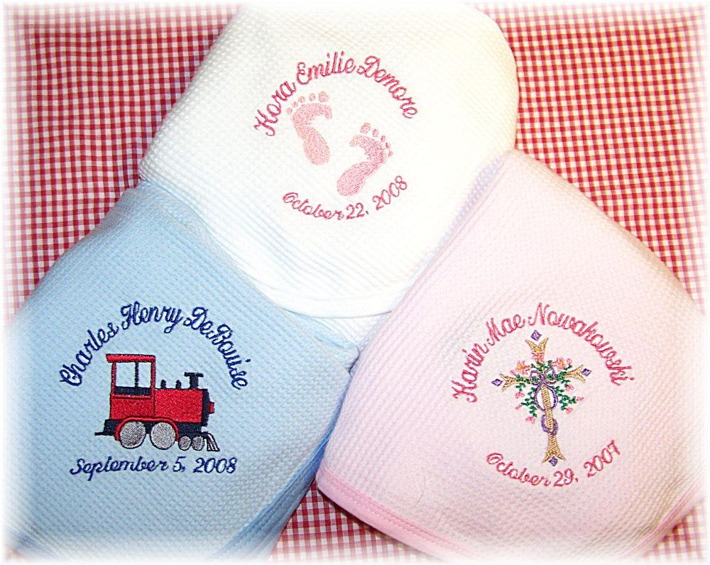 Personalized cotton baby blankets negle Choice Image