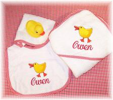 Personalized Baby Bib and Bath Sets
