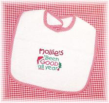 Personalized Christmas Baby Bibs